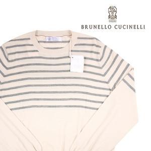 BRUNELLO CUCINELLI 丸首セーター メンズ 50/XL カシミヤ混 CE689 ブルネロクチネリ 並行輸入品|utsubostock