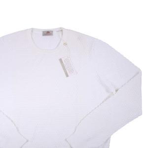 【54】 AMBROSIO アンブロッシオ 丸首セーター メンズ ホワイト 白 並行輸入品 ニット 大きいサイズ|utsubostock