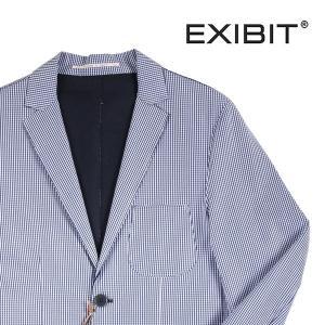 【52】 EXIBIT エグジビット ジャケット メンズ 春夏 チェック ネイビー 紺 並行輸入品 アウター トップス 大きいサイズ|utsubostock