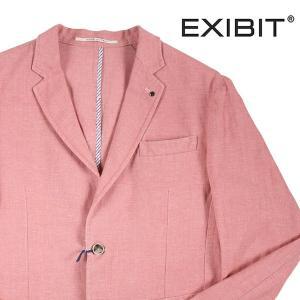 EXIBIT ジャケット メンズ 春夏 52/2XL ピンク リネン混 エグジビット 大きいサイズ 並行輸入品|utsubostock
