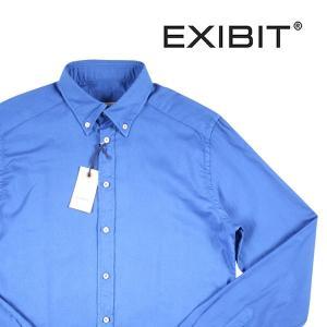 EXIBIT 長袖シャツ メンズ M/46 ブルー 青 エグジビット 並行輸入品|utsubostock