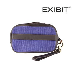 EXIBIT ポーチ メンズ ブルー 青 エグジビット 並行輸入品|utsubostock