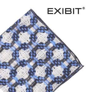 EXIBIT ポケットチーフ FL23C278 white×blue【A13115】|utsubostock
