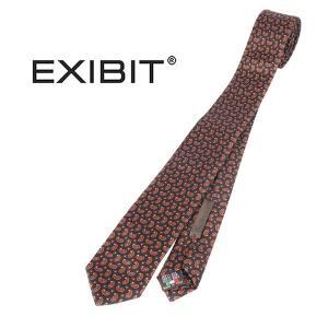 EXIBIT ネクタイ メンズ ネイビー 紺 エグジビット 並行輸入品|utsubostock