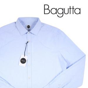 Bagutta 長袖シャツ メンズ M/46 ブルー 青 バグッタ 並行輸入品|utsubostock