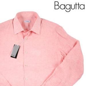 【40】 Bagutta バグッタ 長袖シャツ メンズ 春夏 リネン100% ピンク 並行輸入品 カジュアルシャツ|utsubostock