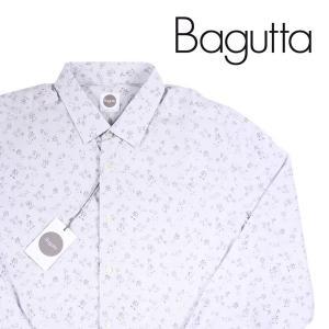 Bagutta 長袖シャツ メンズ 43/3XL グレー 灰色 バグッタ 大きいサイズ 並行輸入品|utsubostock
