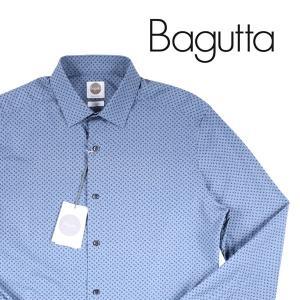 【39】 Bagutta バグッタ 長袖シャツ メンズ 小花柄 ネイビー 紺 並行輸入品 カジュアルシャツ|utsubostock