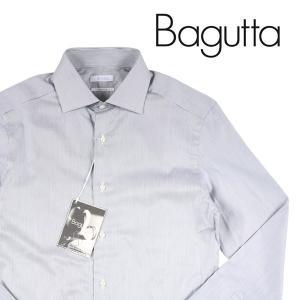 Bagutta ストライプ 長袖シャツ 0B245L52778 gray 37【A13207】|utsubostock