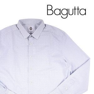 Bagutta 長袖シャツ メンズ 44/4XL グレー 灰色 バグッタ 大きいサイズ 並行輸入品|utsubostock