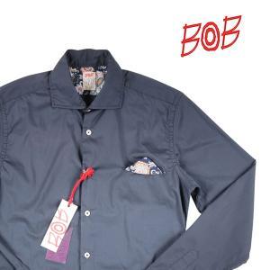 BOB 長袖シャツ メンズ M/46 ネイビー 紺 LOP79 ボブ 並行輸入品|utsubostock