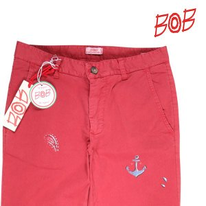 BOB コットンパンツ メンズ 春夏 XS/42 レッド 赤 CHINO DIS106 ボブ 並行輸入品 utsubostock