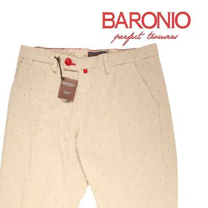 BARONIO コットンパンツ メンズ 31/M ベージュ バロニオ 並行輸入品|utsubostock