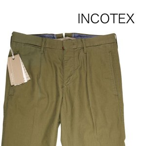 INCOTEX コットンパンツ 1ST623 khaki 30 13327【S13327】 インコテックス|utsubostock