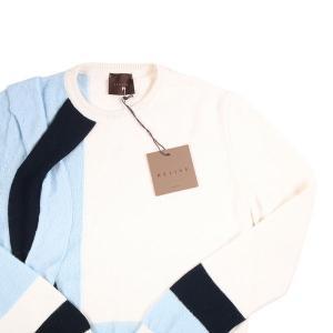 【M】 RELIVE レライブ 丸首セーター メンズ 秋冬 モヘア混 ホワイト 白 並行輸入品 ニット|utsubostock