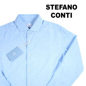 stefano conti 長袖シャツ メンズ 42/2XL ブルー 青 ステファノ・コンティ 大きいサイズ 並行輸入品|utsubostock