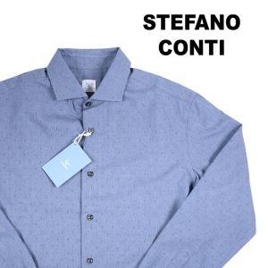stefano conti 長袖シャツ メンズ 43/3XL ネイビー 紺 ステファノ・コンティ 大きいサイズ 並行輸入品|utsubostock
