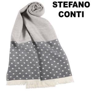 stefano conti 水玉 ストール SCARF 66393/1306/8 gray ONE SIZE 13429【A13429】|utsubostock