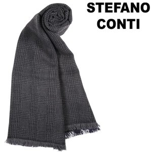 stefano conti チェック ストール SCARF 66314/1550/2 navy ONE SIZE 13439【A13443】|utsubostock