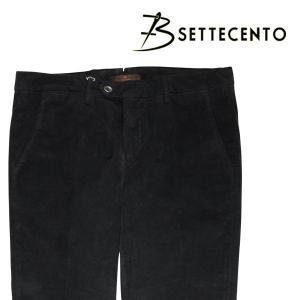 B SETTECENTO コットンパンツ メンズ 33/XL ブラック 黒 ビーセッテチェント 並行輸入品|utsubostock