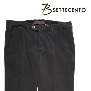 B SETTECENTO コットンパンツ メンズ 30/M ブラック 黒 ビーセッテチェント 並行輸入品|utsubostock