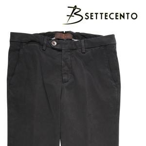 【33】 B SETTECENTO ビーセッテチェント コットンパンツ メンズ ブラック 黒 並行輸入品 ズボン|utsubostock