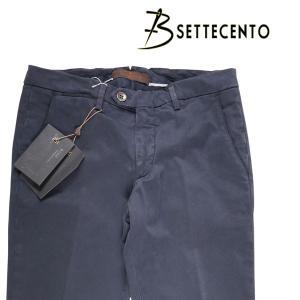 B SETTECENTO コットンパンツ メンズ 32/L ネイビー 紺 ビーセッテチェント 並行輸入品|utsubostock