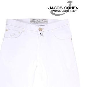 JACOB COHEN カラーパンツ メンズ 春夏 28/S ホワイト 白 PW622COMF ヤコブコーエン 並行輸入品|utsubostock