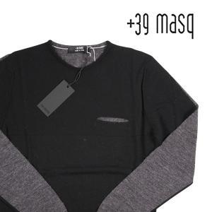 +39 masq 丸首セーター メンズ 秋冬 S/44 マスク 並行輸入品|utsubostock