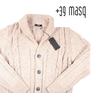 +39 masq カーディガン メンズ 秋冬 S/44 ベージュ マスク 並行輸入品|utsubostock