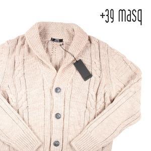 +39 masq カーディガン メンズ 秋冬 XXXXL/56 ベージュ マスク 大きいサイズ 並行輸入品|utsubostock