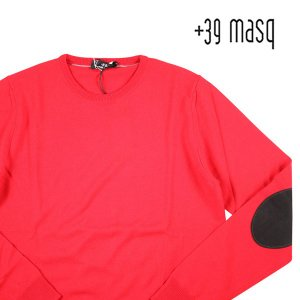 【M】 +39 masq マスク 丸首セーター メンズ 秋冬 レッド 赤 並行輸入品 ニット|utsubostock