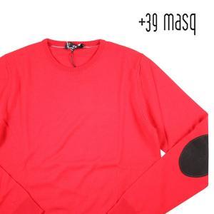 +39 masq 丸首セーター メンズ 秋冬 S/44 レッド 赤 マスク 並行輸入品|utsubostock
