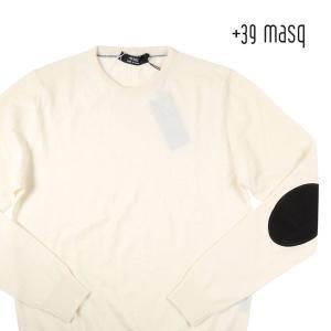 【M】 +39 masq マスク 丸首セーター メンズ 秋冬 ホワイト 白 並行輸入品 ニット|utsubostock