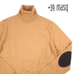 【L】 +39 masq マスク タートルネックセーター メンズ 秋冬 ブラウン 茶 並行輸入品 ニット|utsubostock