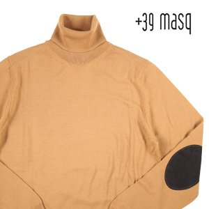 +39 masq タートルネックセーター メンズ 秋冬 S/44 ブラウン 茶 マスク 並行輸入品 utsubostock