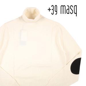 +39 masq タートルネックセーター メンズ 秋冬 S/44 ホワイト 白 マスク 並行輸入品|utsubostock