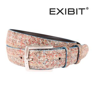 EXIBIT ベルト メンズ ブラウン 茶 エグジビット 並行輸入品|utsubostock