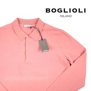 BOGLIOLI 長袖ポロシャツ メンズ L/48 ピンク BEC801 ボリオリ 並行輸入品|utsubostock