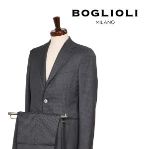 【44】 BOGLIOLI ボリオリ スーツ X21W2E メンズ 春夏 シルク混 ドット グレー 灰色 並行輸入品|utsubostock