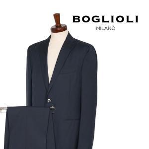 BOGLIOLI スーツ メンズ 50/XL ネイビー 紺 ヴァージンウール100% T53W2A ボリオリ 並行輸入品|utsubostock