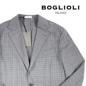 【50】 BOGLIOLI ボリオリ ジャケット X2902E メンズ 春夏 ヴァージンウール100% チェック グレー 灰色 並行輸入品 アウター トップス|utsubostock