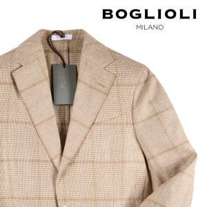 【46】 BOGLIOLI ボリオリ ジャケット X2902E メンズ 春夏 シルク混 チェック ベージュ 並行輸入品 アウター トップス|utsubostock