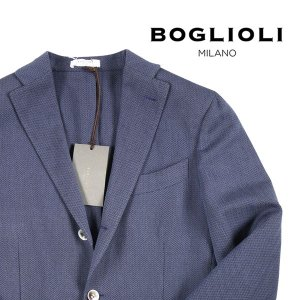 【44】 BOGLIOLI ボリオリ ジャケット T2902E メンズ 春夏 リネン混 ネイビー 紺 並行輸入品 アウター トップス|utsubostock