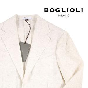 【44】 BOGLIOLI ボリオリ ジャケット X2902E メンズ 春夏 リネン混 ホワイト 白 並行輸入品 アウター トップス utsubostock
