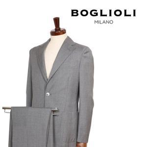 【44】 BOGLIOLI ボリオリ スーツ X29W2E メンズ 春夏 ヴァージンウール100% グレー 灰色 並行輸入品|utsubostock