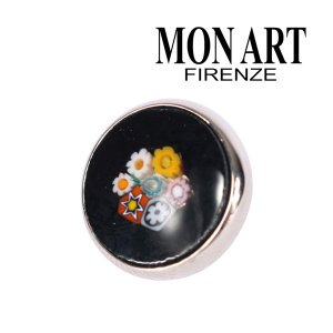 MONART モナート ラペルピン メンズ 花柄 ブラック 黒 並行輸入品|utsubostock
