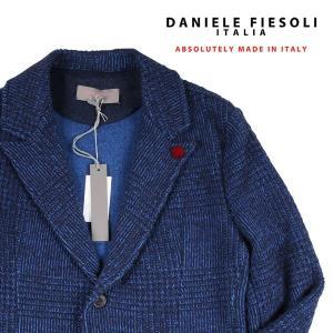 DANIELE FIESOLI ジャケット メンズ 秋冬 S/44 ブルー 青 ダニエレフィエゾーリ 並行輸入品|utsubostock