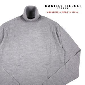 DANIELE FIESOLI タートルネックセーター メンズ 秋冬 M/46 グレー 灰色 シルク混 ダニエレフィエゾーリ 並行輸入品|utsubostock