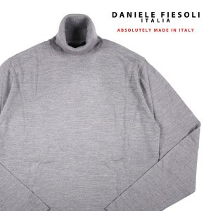 DANIELE FIESOLI シルク混 タートルネックセーター DF0040 gray M 13943G【W13949】|utsubostock